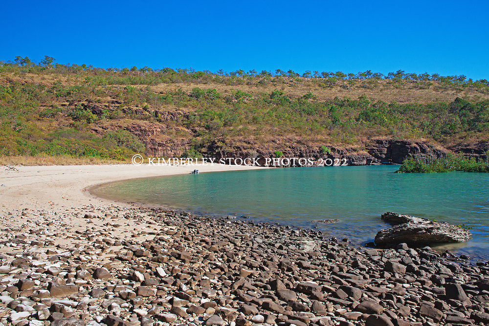 A remote beach near the Traverse Island Group on the Kimberley coast.