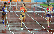 Zuzana Hejnova winner of womens 400m hurdles at the Sainsbury's Anniversary Games at the Queen Elizabeth II Olympic Park, London, United Kingdom on 24 July 2015. Photo by Mark Davies.