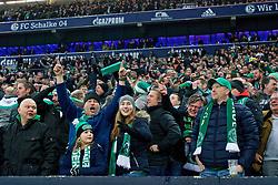 03.02.2018, Veltins Arena, Gelsenkirchen, GER, 1. FBL, Schalke 04 vs SV Werder Bremen, 21. Runde, im Bild Jubel im Gästeblock nach dem 2:1 für die Bremer // during the German Bundesliga 21th round match between Schalke 04 and SV Werder Bremen at the Veltins Arena in Gelsenkirchen, Germany on 2018/02/03. EXPA Pictures © 2018, PhotoCredit: EXPA/ Andreas Gumz<br /> <br /> *****ATTENTION - OUT of GER*****