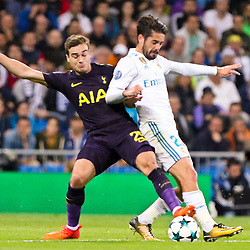 Isco of of Real Madridin action during Uefa Champions League (Group H) match between Real Madrid and Tottenham Hotspur at Santiago Bernabeu Stadium on October 17, 2017 in Madrid  (Spain) (Photo by Luis de la Mata / SportPix.org.uk)