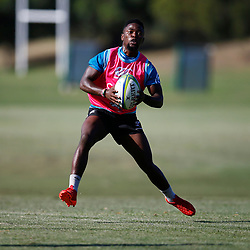 Sanele Nohamba of the Cell C Sharks during the Cell C Sharks  training session from theBox Hill Rugby Union Football Club  RHL Sparks Reserve, Canterbury Rd & Middleborough Road, Box Hill VIC 3128. Melbourne,Australia 17 February 2020. (Photo Steve Haag Sports -Hollywoodbets)