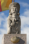 Statue of St. James marks the Camino to Santiago de Compostela. Of of the many statues of St. James along The Way