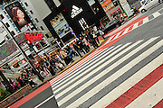 A crossing at Shibuya, near Shibuya station in Tokyo Japan