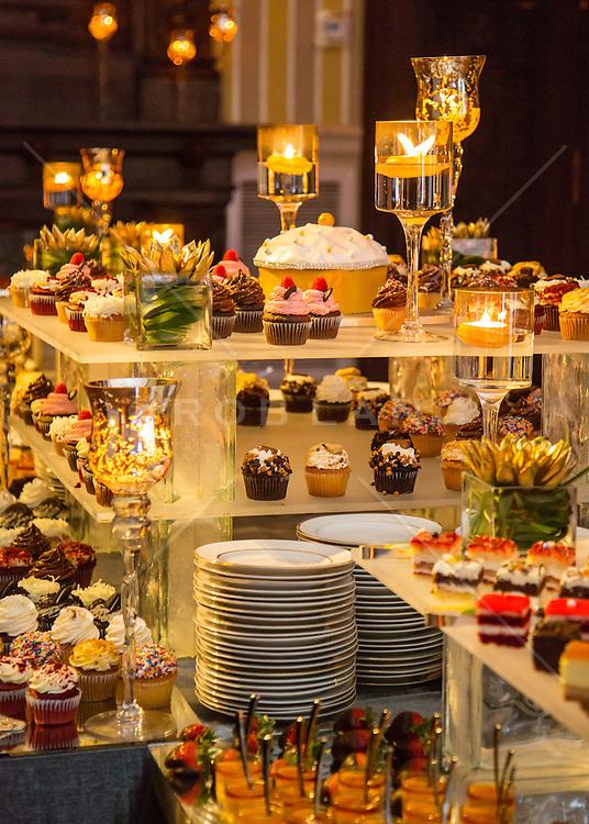 dessert table at a wedding reception