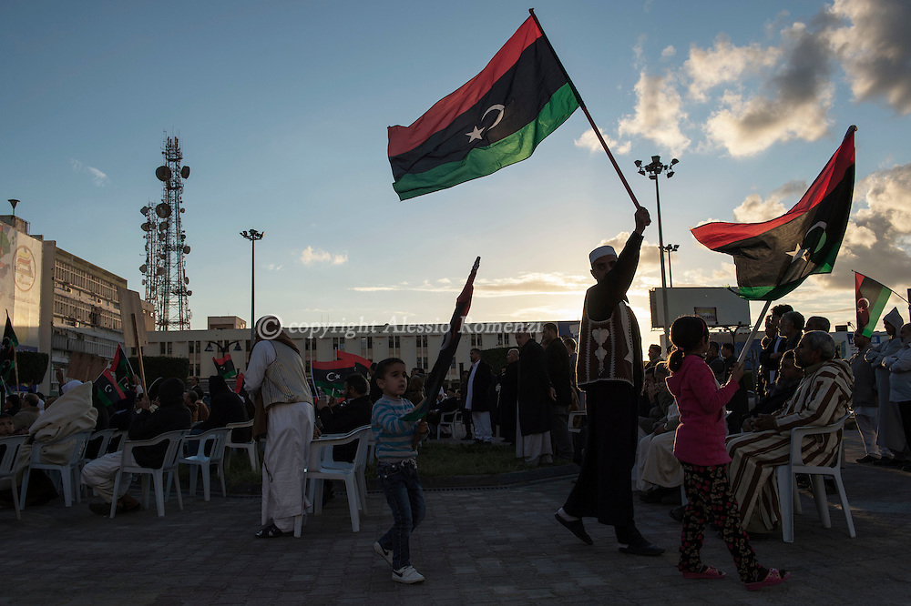 Libya, Misurata: Demonstration against the unity government in central Misurata. Alessio Romenzi