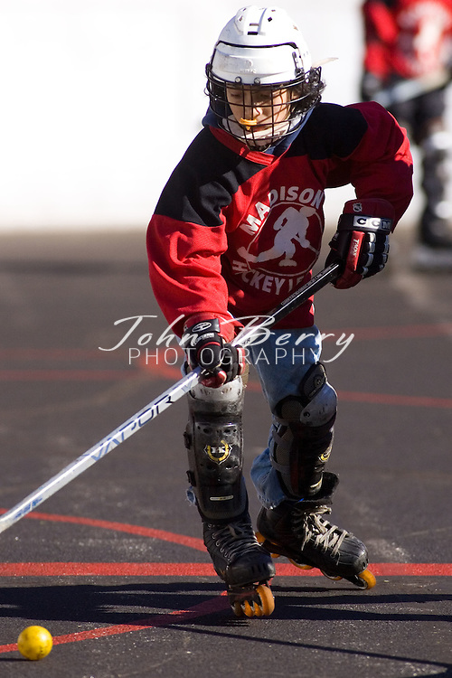 Madison Hockey Tournament.Juniors-Capitals vs Rangers.February 24, 2007