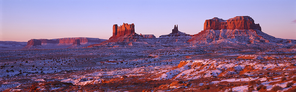 Monument Valley Sunrise, Arizona, USA, 12-1998