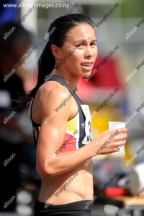 Andrea Hewitt looks on following the womens 5km, during the national Track and Field Champs held at the Caledonian Ground, Dunedin, New Zealand, 4 March 2016. Credit: Joe Allison / allisonimages.co.nz