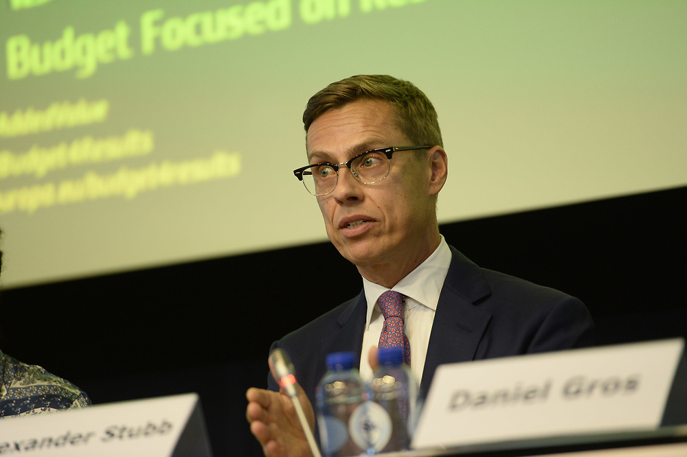 Brussels, Belgium - 25 September 2017 <br /> &quot;The Future of Finances&quot; conference.<br /> Photo: European Commission / Ezequiel Scagnetti