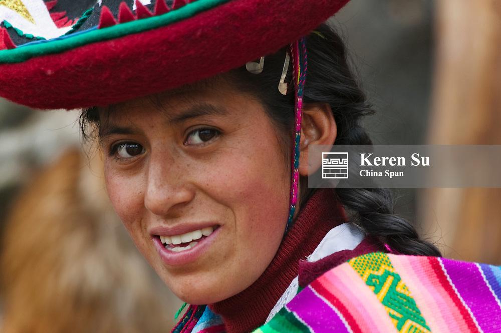 Portrait of an Indian woman, Cuzco, Peru