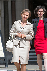 Image ©Licensed to i-Images Picture Agency. 31/07/2014. London, United Kingdom. Public Inquiry in to the death of Alexander Litvinenko is opened. Image shows his widow Marina Litvinenko (L) outside the High Court. Picture by i-Images