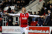 Paul Green celebrates during the Sky Bet Championship match between Rotherham United and Bolton Wanderers at the New York Stadium, Rotherham, England on 27 January 2015. Photo by Richard Greenfield.
