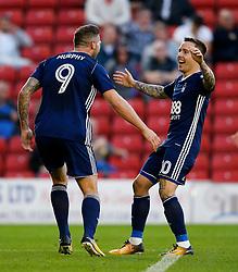 Nottingham Forest's Daryl Murphy celebrates after scoring the equalising goal to make it 1-1 - Mandatory by-line: Matt McNulty/JMP - 15/08/2017 - FOOTBALL - Oakwell Stadium - Barnsley, England - Barnsley v Nottingham Forest - SkyBet Championship