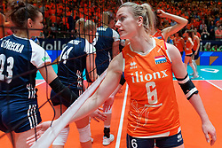 10–01-2020 NED: Olympic qualification tournament women Netherlands - Poland, Apeldoorn<br /> The Dutch volleyball players lost the third group match of the OKT in Apeldoorn 3-1 against Poland / Maret Balkestein-Grothues #6 of Netherlands