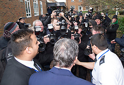 29/11/2013. London, UK. Millionaire art dealer Charles Saatchi, surrounded my media as he arrives at Isleworth Crown Court to give evidence in a case against his two former personal assistants, who are accused of misappropriating over £600,00 of funds while working for Charles Saatchi and his former wife Nigella Lawson .Photo credit : Ben Cawthra