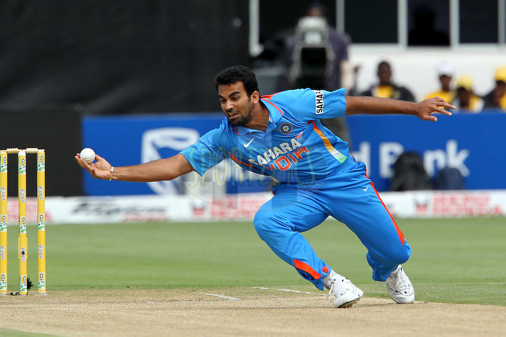 Zaheer Khan of India during the 4th ODI between South Africa and India held at St Georges Park in Port Elizabeth, Eastern Cape, South Africa on the 21st January 2011..Photo by Ron Gaunt/BCCI/SPORTZPICS