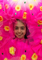 Ellie Malone from St John The Aposptle national school in Knocknacarra at the Galway education centre, for a Chinese experience  . Photo:Andrew Downes.]