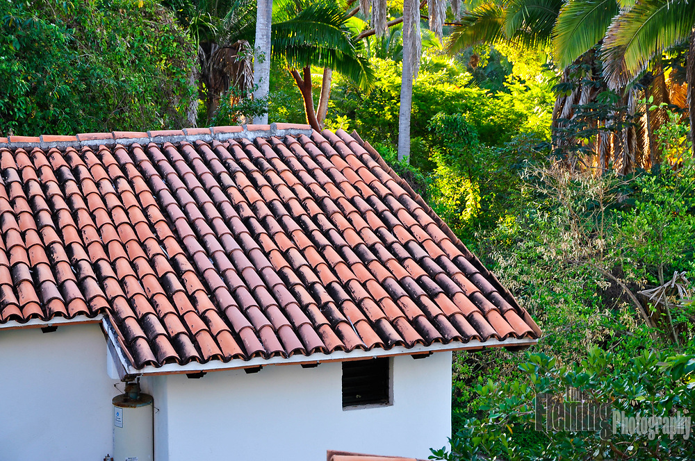 Tiled roof building in San Pancho, Mexico