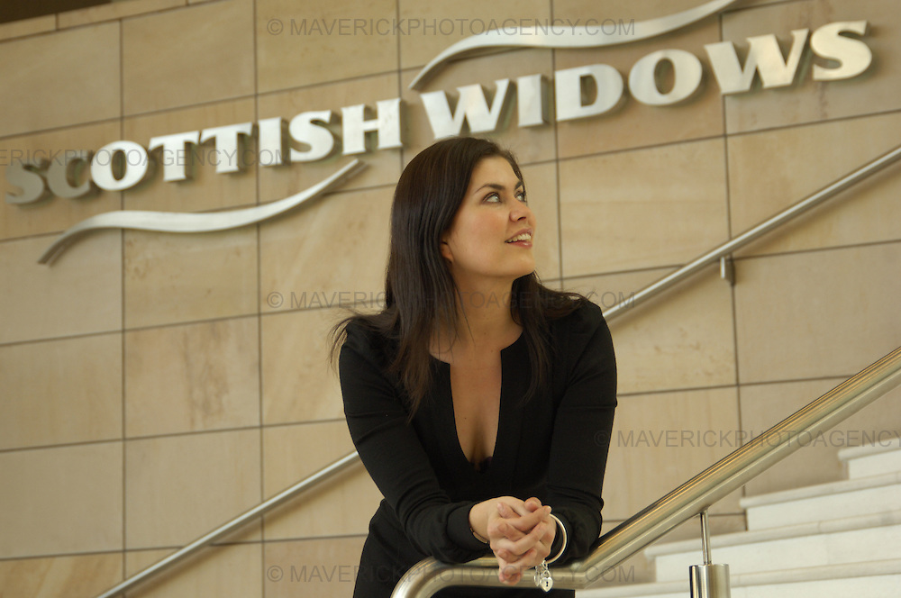 Portrait of Amanda Lamb who used to be the face of Scottish Widows.