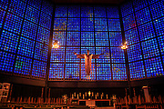 Interior of the Kaiser Wilhelm Memorial Church in Berlin, Germany.