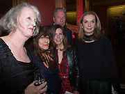 SARAH CROWDEN; FENELLA FEILDING; LUCY BERESFORD; TIM BENTINCK,NANCY SLADEK,Literary Review Christmas drinks and  Bad Sex in fiction Awards, In and Out club. St. James's Sq. London. 30 November 2017