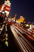 Las Vegas strip USA night shot