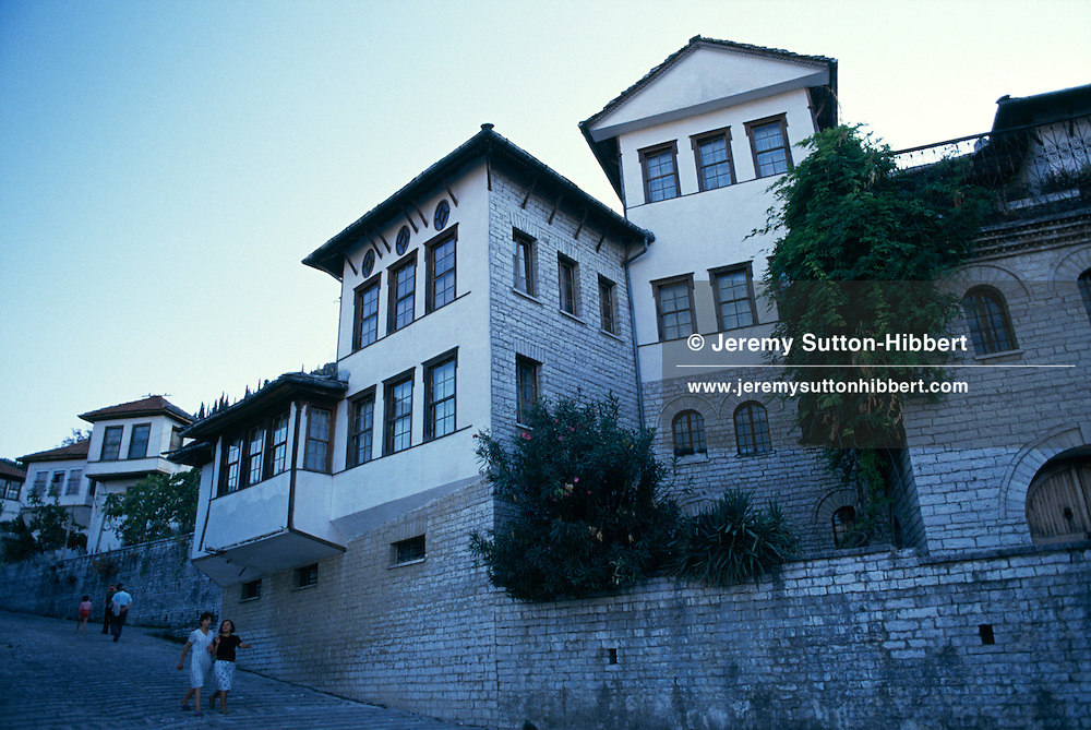 Houses in Gjirokaster/ Gjirokastra, Southern Albania.