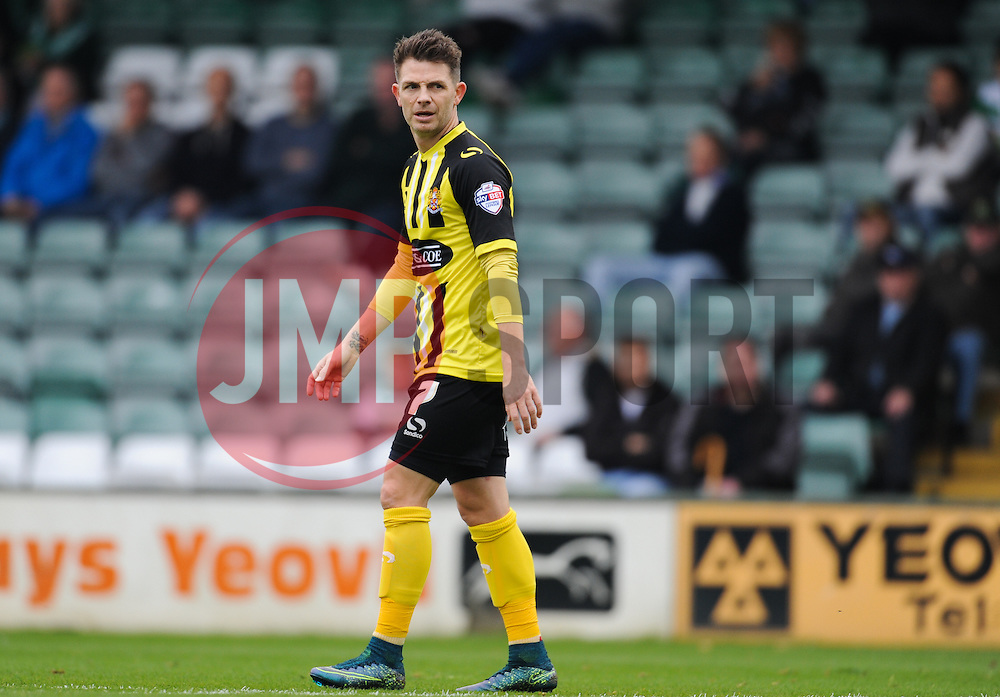 Dagenham's Jamie Cureton looks on.  - Mandatory byline: Alex Davidson/JMP - 07966 386802 - 10/10/2015 - FOOTBALL - Huish Park - Yeovil, England - Yeovil v Dagenham - Sky Bet League Two