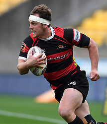 Canterbury's Jed Brown against Wellington in the Mitre 10 Rugby match at Westpac Stadium, Wellington, New Zealand, Sunday September 17,, 2017. Credit:SNPA / Ross Setford  **NO ARCHIVING**