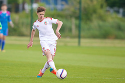 NEWPORT, WALES - Thursday, May 28, 2015: Regional Development Boys' Sam Bowen during the Welsh Football Trust Cymru Cup 2015 at Dragon Park. (Pic by David Rawcliffe/Propaganda)