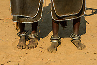 Women's anklets, Arbore tribe village, Omo Valley, Ethiopia.