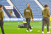Pontus Jansson of Leeds United (18) arrives at the ground during the EFL Sky Bet Championship match between Preston North End and Leeds United at Deepdale, Preston, England on 9 April 2019.