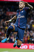 Neymar da Silva Santos Junior - Neymar Jr (PSG) scored a new goal and celebrated it during the French championship L1 football match between Paris Saint-Germain (PSG) and Toulouse Football Club, on August 20, 2017, at Parc des Princes, in Paris, France - Photo Stephane Allaman / ProSportsImages / DPPI