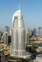 View of Address Hotel in Downtown Dubai before fire on New Year 2016 in Dubai United Arab Emirates