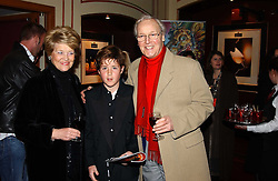 NICHOLAS & ANNE PARSONS and his grandson TOM BUCHANAN at the return of Dralion to celebrate the Cirque Du Soleil's 20th Anniversary at the Royal Albert Hall, London on 6th January 2005.<br />