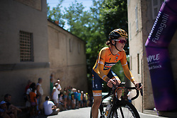 Lizzie Deignan (GBR) of Boels-Dolmans Cycling Team rides near the top of the final climb of Stage 5 of the Giro Rosa - a 12.7 km individual time trial, starting and finishing in Sant'Elpido A Mare on July 4, 2017, in Fermo, Italy. (Photo by Balint Hamvas/Velofocus.com)