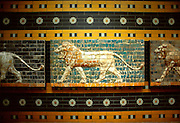 TURKEY, ISTANBUL, MUSEUM Babylonian Frieze from Ishtar Gate