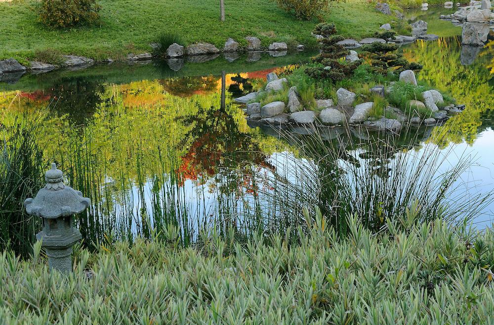 France, Languedoc Roussillon, Gard, Cévennes, Anduze, La Bambouseraie, le vallon du dragon, jardin japonais, paysagiste: Erik Borja