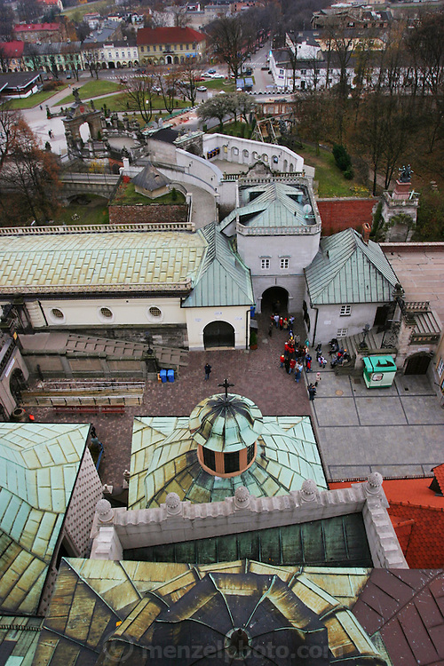Czestochowa, Poland. Jasna Gora Monastery (Black Madonna) from top of monastery.