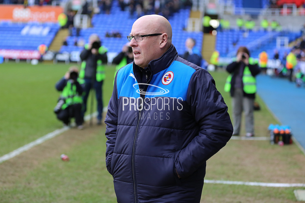 Reading first team manager Brian McDermott during the Sky Bet Championship match between Reading and Sheffield Wednesday at the Madejski Stadium, Reading, England on 23 January 2016. Photo by Phil Duncan.