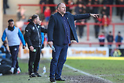 Morecambe's manager Jim Bentley during the EFL Sky Bet League 2 match between Morecambe and Forest Green Rovers at the Globe Arena, Morecambe, England on 17 February 2018. Picture by Shane Healey.