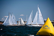 Dorade, Neith, Fortune sailing in the Newport Classic Yacht Regatta.