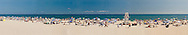 Fun at the Beach, New York, Long Island, East Hampton, Main Beach, wide panorama,
