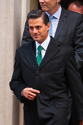 London, March 4th 2015. President Enrique Pena Nieto leaves 10 Downing Street after a meeting with Prime Minister David Cameron. Nieto is on a State Visit to the United Kingdom.