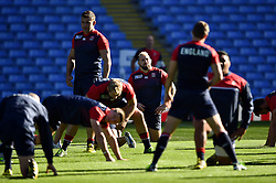 Joe Marler of England looks on - Mandatory byline: Patrick Khachfe/JMP - 07966 386802 - 09/10/2015 - RUGBY UNION - Manchester City Stadium - Manchester, England - England Captain's Run - Rugby World Cup 2015.