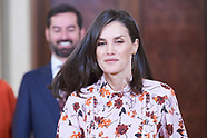 022120 Queen Letizia attends audiences at Zarzuela Palace