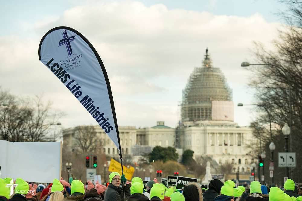 Lutherans march toward the United States Capitol during the 2015 March for Life on Thursday, Jan. 22, 2015, in Washington, D.C. LCMS Communications/Erik M. Lunsford