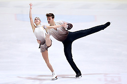 04.12.2015, Dom Sportova, Zagreb, CRO, ISU, Golden Spin of Zagreb, freies Programm, Paare, im Bild Natalja Zabijako - Alexander Enbert, Russia. // during the 48th Golden Spin of Zagreb 2015 doubles Free Program of ISU at the Dom Sportova in Zagreb, Croatia on 2015/12/04. EXPA Pictures © 2015, PhotoCredit: EXPA/ Pixsell/ Igor Kralj<br /> <br /> *****ATTENTION - for AUT, SLO, SUI, SWE, ITA, FRA only*****