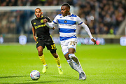 Queens Park Rangers midfielder Bright Osayi-Samuel (20) charges forward during the EFL Sky Bet Championship match between Queens Park Rangers and Brentford at the Kiyan Prince Foundation Stadium, London, England on 28 October 2019.