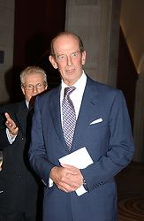 HRH THE DUKE OF KENT  at the Depal Trust 2in1 Art Party at The National Portrait Gallery, London on 25th October 2004.<br />